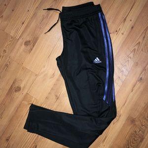 Adidas Black & Purple track pants NWT 🔥